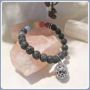 Jewelry - Grounding Lava Chakra Aromatherapy Charm Bracelet